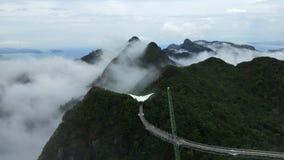 Himmel-Brücke und Drahtseilbahn, Langkawi-Insel, Malaysia stock footage