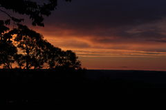 Himmel an der Dämmerung in der Pampa-Region, Brasilien Lizenzfreie Stockfotos