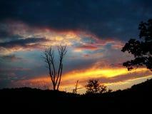 Himmel der Farbe Stockfoto