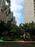 Himmel in der Stadt lizenzfreies stockbild