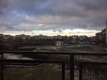 Himmel efter första snö Fotografering för Bildbyråer