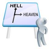 Himmel- eller helvetetecken stock illustrationer