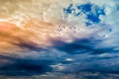 Himmel för åskväder Royaltyfria Foton