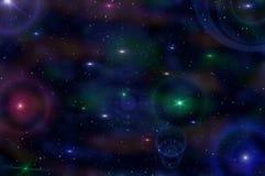 Himmel för abstraktionstjärnanebulosa Arkivbilder