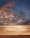 Himmel för afton för produktfotomall Arkivfoto