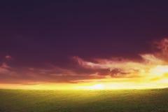 Himmel för bakgrundsBeutyfull skymning Arkivfoton