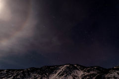 Himmel för gloria för bergstjärnamåne Arkivbild