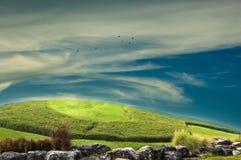 Himmel för kullelabdabd Arkivfoton