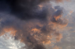 himmel för regn Arkivfoto