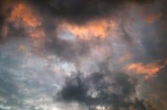 himmel för regn Royaltyfria Foton