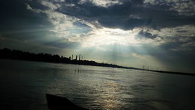 Himmel för solnedgångfotofotografi Arkivbilder
