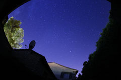 Himmel för stjärnklar natt Arkivbilder