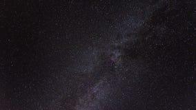 himmel för stjärnklar natt med galaxen för mjölkaktig väg stock video