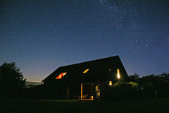 Himmel för stjärnklar natt på de Marlborough slättarna Arkivbilder
