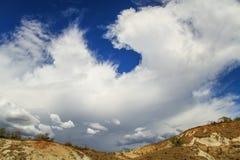 Himmel för stormen, Tatacoa öken, Colombia Royaltyfri Fotografi
