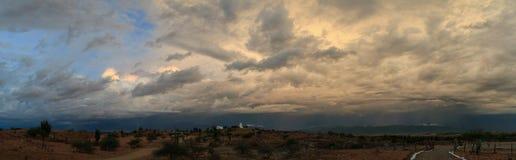Himmel för stormen, Tatacoa öken, Colombia Arkivfoto