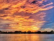 Himmel för två färg Arkivfoton