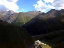 Himmel från bergen Royaltyfria Bilder
