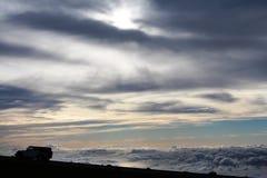 Himmel från vulkan på Maui Arkivfoton