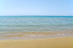 Himmel, hav och sand fotografering för bildbyråer