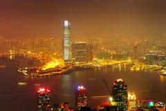 Himmel 100 Hong Kong Observation Deck Arkivfoton