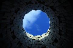 Himmel i cirkel Arkivbild