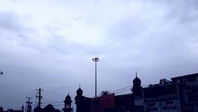 Himmel i Indien Hyderabad royaltyfria foton