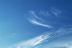 himmel i molnen Arkivbild