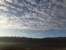 Himmel i morgonen Arkivfoto