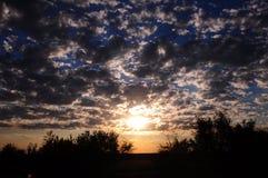 Himmel i Shymkent royaltyfria foton