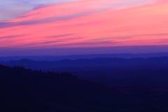 Himmel i solnedgången Tid Arkivbilder