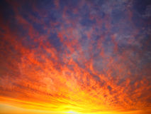 Himmel im Feuer Stockfotografie