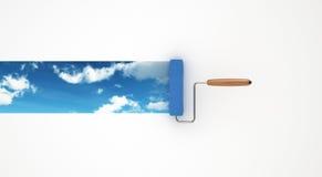 Himmel im Rollen-Maler Stockfotos