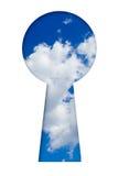 Himmel im Schlüsselloch Lizenzfreie Stockfotografie