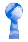 Himmel im Schlüsselloch Stockfotografie