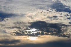Himmel im Sonnenschein stockbilder
