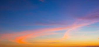 Himmel im Sonnenuntergang Lizenzfreies Stockfoto