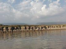 Himmel landnd-vatten Royaltyfria Bilder