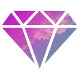 Himmel med en diamant vektor illustrationer