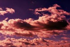 Himmel med färgrika moln abstrakt sky royaltyfria bilder