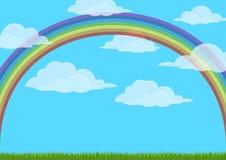 Himmel med regnbågen Royaltyfri Fotografi