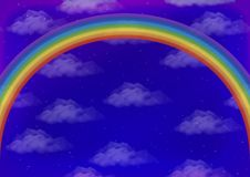 Himmel mit Regenbogen Lizenzfreie Stockbilder