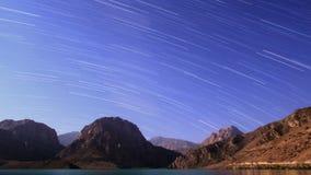 Himmel mit Streifen Panorama Tadschikistan, Iskander- stock footage