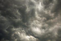 Himmel mit Sturmdunkelheitwolken Lizenzfreies Stockbild