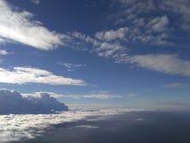 Himmel moln, land, hav Royaltyfri Foto