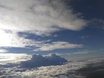 Himmel moln, land, sol Royaltyfri Fotografi