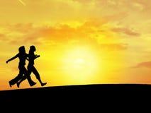Himmel N1 mit 2 Frauen Lizenzfreies Stockfoto