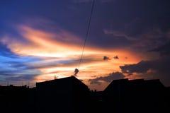 Himmel nach dem Sturm lizenzfreies stockbild
