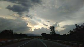 Himmel nach der Straße stockfotografie