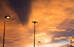 Himmel nach Sonnenuntergang Stockbild